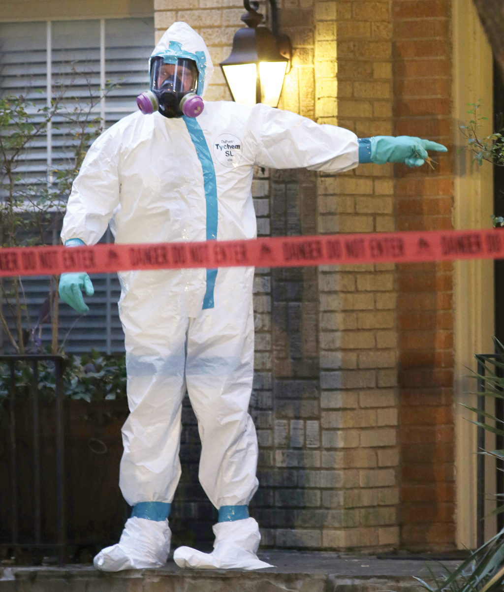 Ebola hazmat suits are popular Halloween costumes this year