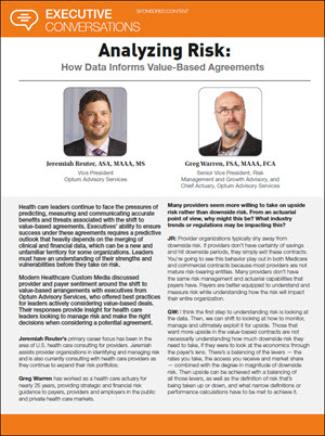 Analyzing Risk: How Data Informs Value-Based Agreements