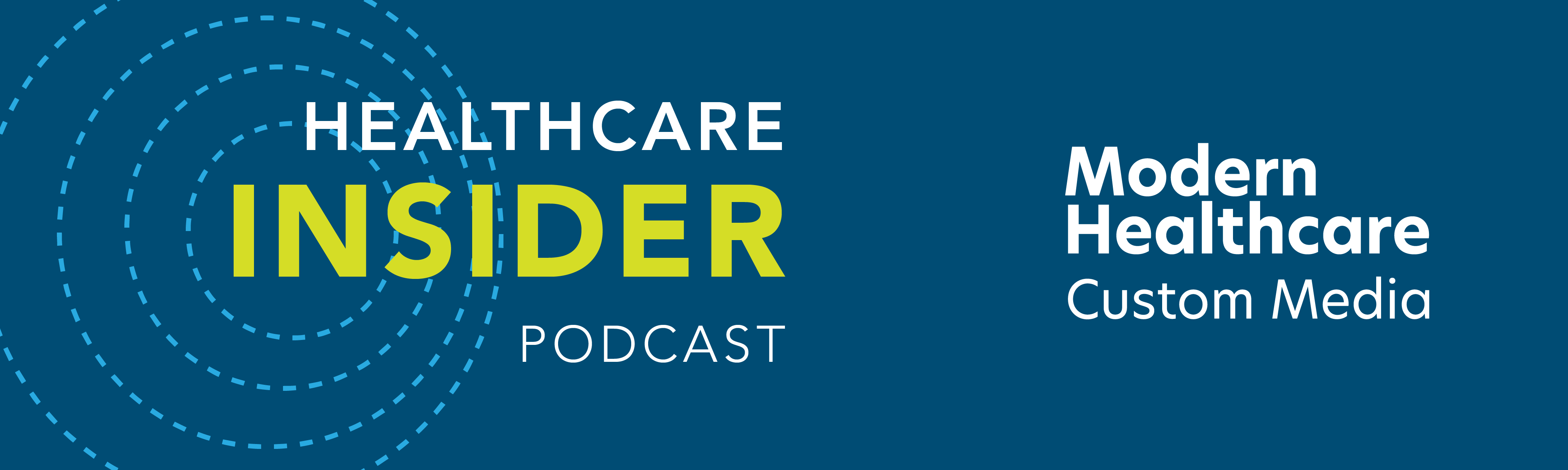 healthcare insider podcast banner image web