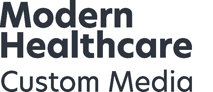 modern healthcare custom media logo