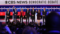 Democratic candidates at CBS News debate