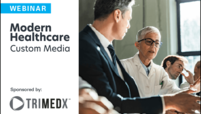 modern healthcare custom media and trimedx custom webinar logo lockup