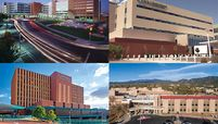Presbyterian Hospital in Albuquerque, UNM Sandoval Regional Medical Center in Rio Rancho, N.M., Lovelace Medical Center in Albuquerque and Christus St. Vincent Regional Medical Center in Santa Fe, N.M.