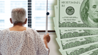 Patient with hundred dollar bills