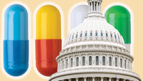 Capitol Building with pills