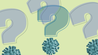 Question marks with the coronavirus