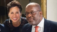 Fawn Lopez and Bernard Tyson
