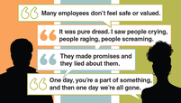 Quotes from rebadged employees