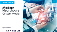 syntellis logo lockup modern healthcare custom media