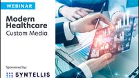 syntellis logo lockup modern healthcare custom media