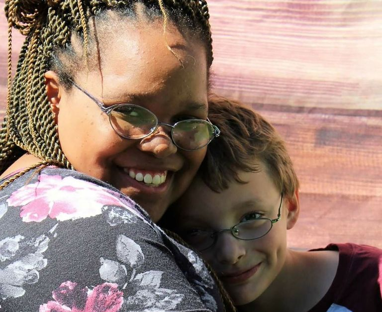 Krissy Williams with her brother