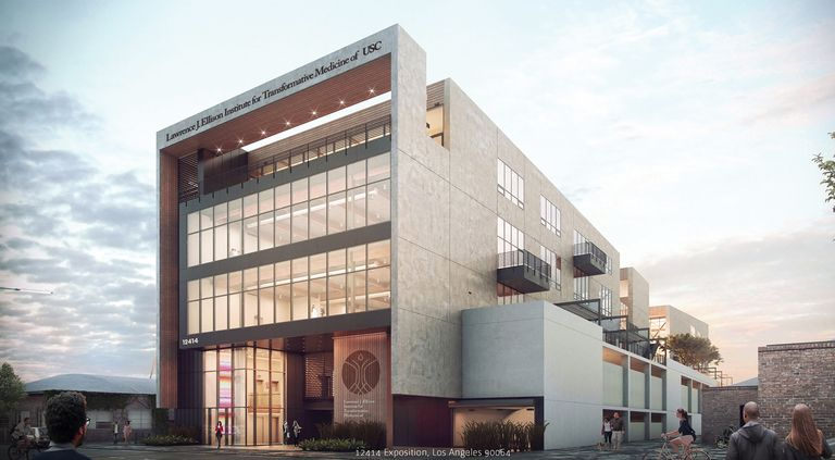 A rendering of a cancer research institute at the University of Southern California that will include 5G.