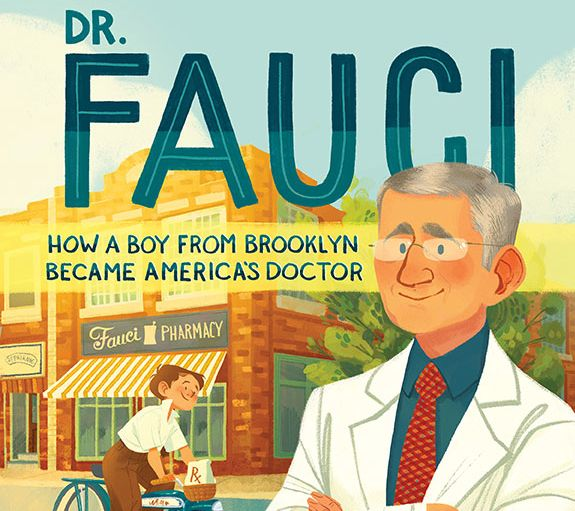 """Cover of """"Dr. Fauci: How a Boy from Brooklyn Became America's Doctor"""""""