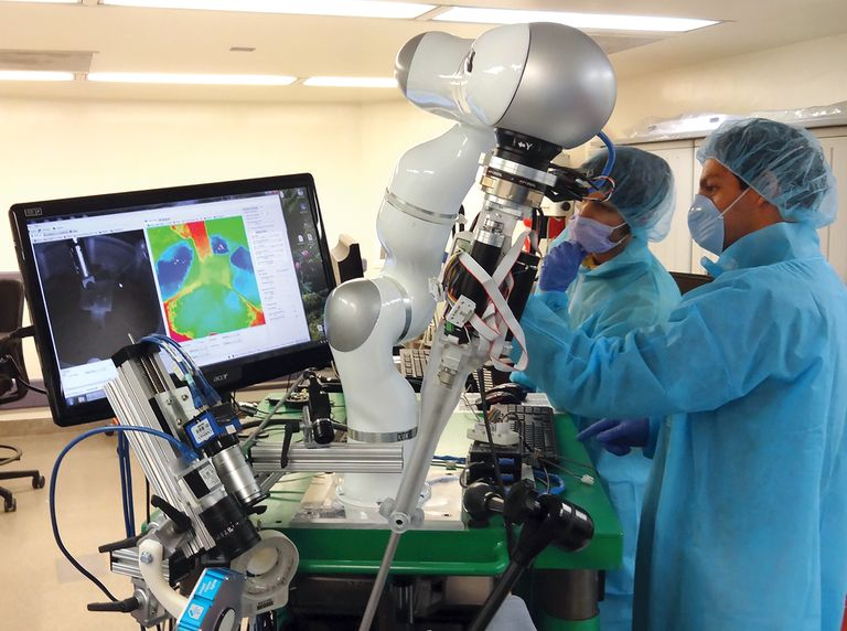A surgical team performed what's commonly referred to as the world's first autonomous robotic surgery of soft tissue. The team supervised a system, known as the Smart Tissue Autonomous Robot, which completed the procedure on a pig.