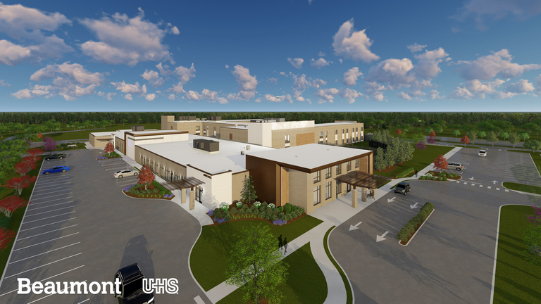 Beaumont Health, Universal Health Services break ground on mental health hospital