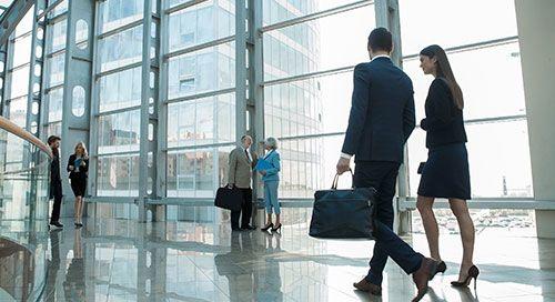 man woman walking stock image