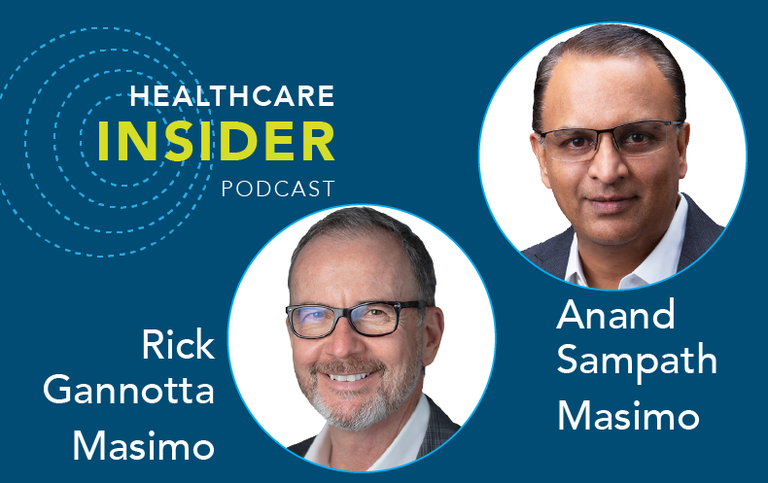 healthcare insider podcast masimo rick gannotta anand sampath