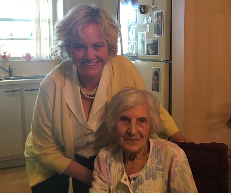 Leah Binder, CEO of the Leapfrog Group, with her grandmother, Estelle Greifer.