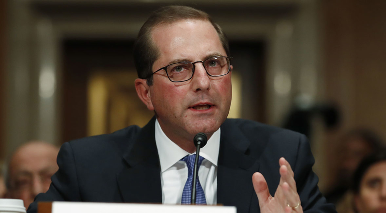 Azar says Trump wants more aggressive international drug-pricing demo
