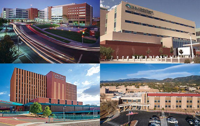Presbyterian Hospital in Albuquerque, UNM Sandoval Regional Medical Center in Rio Rancho, N.M., Lovelace Medical Center in Albuquerque and Christus St. Vincent Regional Medical Center in Santa Fe, N.M.