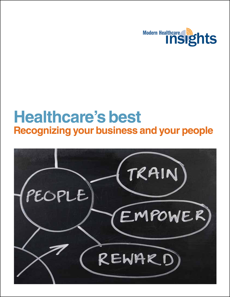 EVENT SPECIAL Healthcare's Best: Recognizing Your Business and Your People