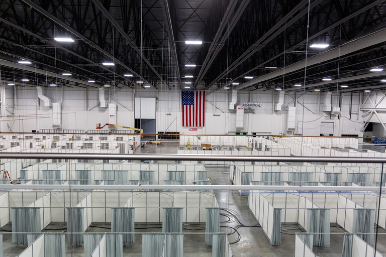 Army Corps scales back size of COVID-19 field hospital in suburban Detroit