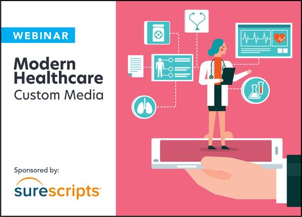 surescripts logo lockup modern healthcare custom media
