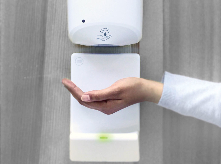 Sensors helping hospitals keep track of hand-hygiene performance