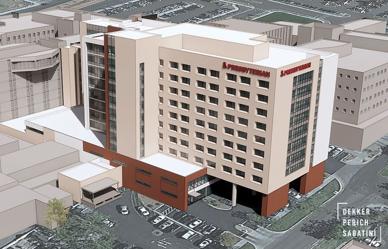 A rendering of the Presbyterian tower.