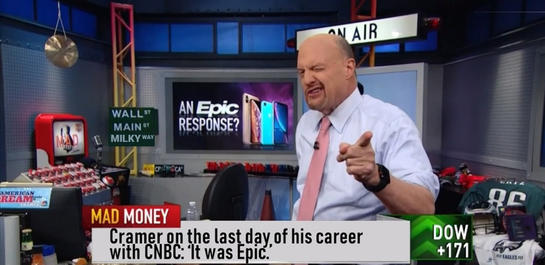 Epic takes shot at CNBC's Jim Cramer in April Fools' Day prank