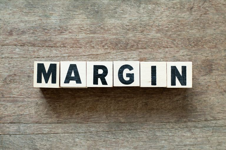 margin block letters stock image