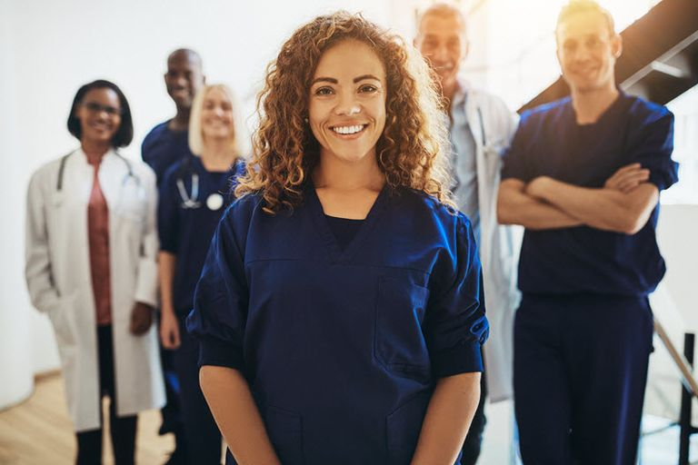 healthcare providers stock image
