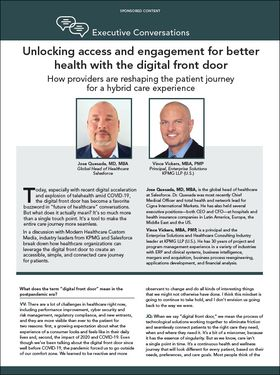 unlocking access and engagement for better health with the digital front door