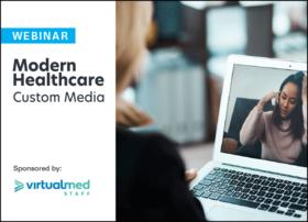 virtualmed staff modern healthcare custom media logo lockup