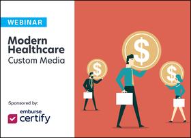 emburse certify modern healthcare custom media webinar logo lockup