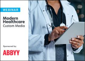 abbyy logo lockup doctor on tablet