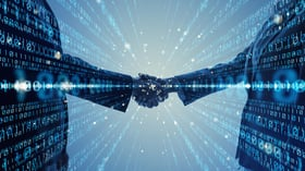 partnership numbers shaking hands stock image
