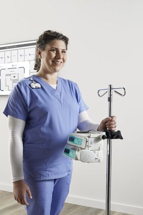 Stock image of nurse with medical equipment