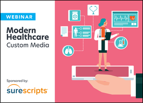 surescripts logo lockup modern healthcare custom media