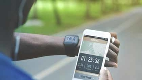 smartphone smart watch stock image