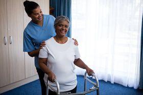 nursing home - nurse and patient