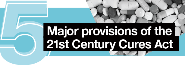 5 major provisions of the 21st Century Cures Act