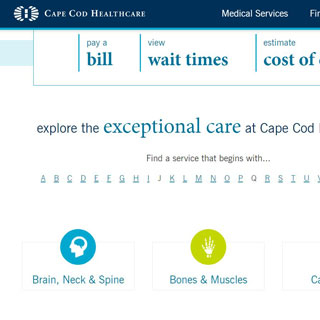 Cape Cod Healthcare Website Redesign