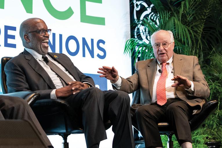 Peter diCicco and Bernard Tyson