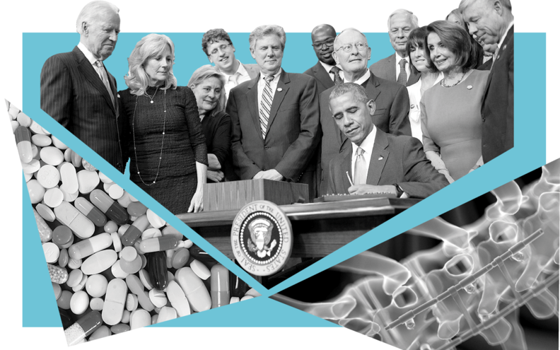 President Barack Obama signs the 21st Century Cures Act.