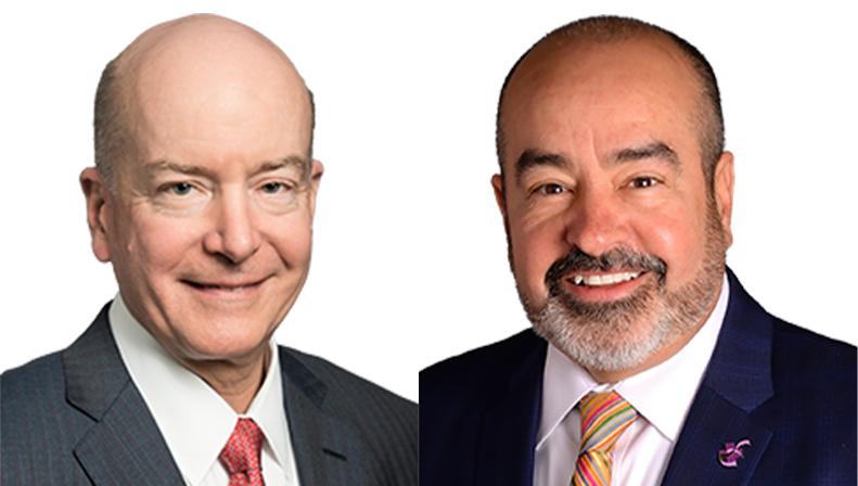 Dr. David Callender and Marcos Pesquera