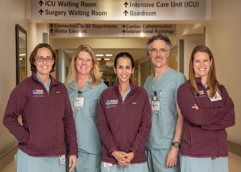 The pediatric surgical staff at Elliot Hospital