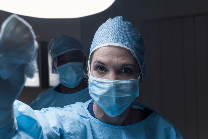Portrait of surgeon wearing mask