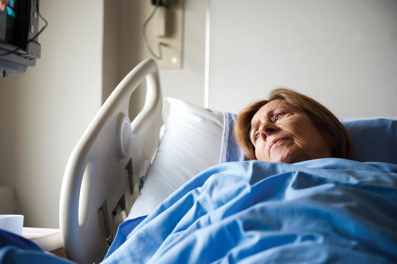 older patient in bed