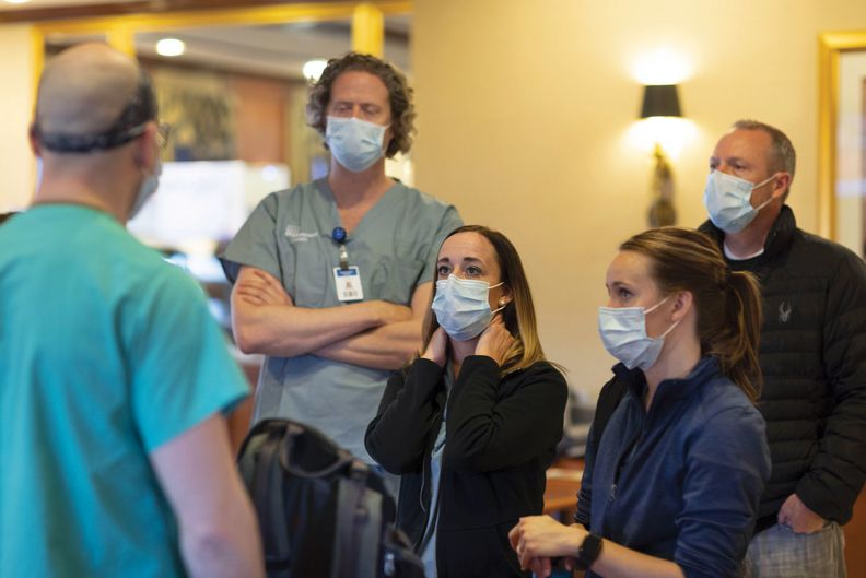 Intermountain Healthcare caregiver Paul Sharp shares his experience with other Intermountain caregivers after completing his first shift in the ICU at Northwell Health in New York.
